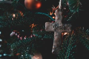 Christmas Cross tree decoration