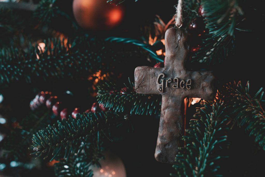 Christmas Cross tree decoration